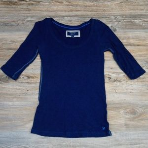 American Eagle Outfitters Blue Favorite Tee